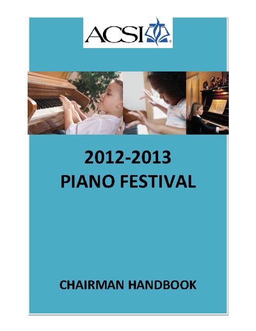 Piano Chairman Handbook