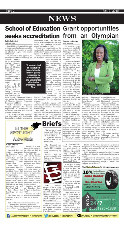 Feb. 3 issue of the Legacy