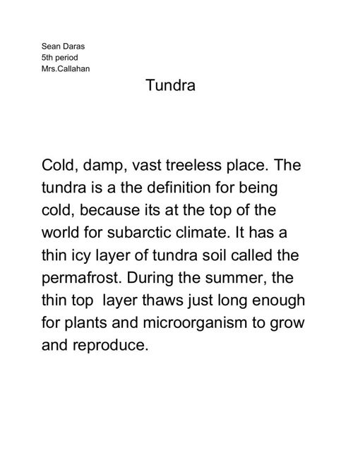 Sean Daras Tundra Booklet