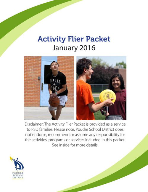 January 2016 Activity Flier Packet