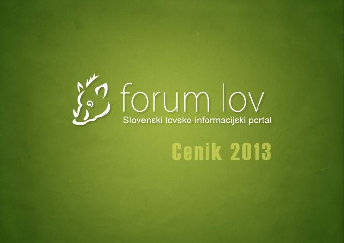 Cenik oglaševanja Forum-Lov 2012