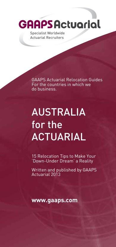 AUSTRALIA for the ACTUARIAL