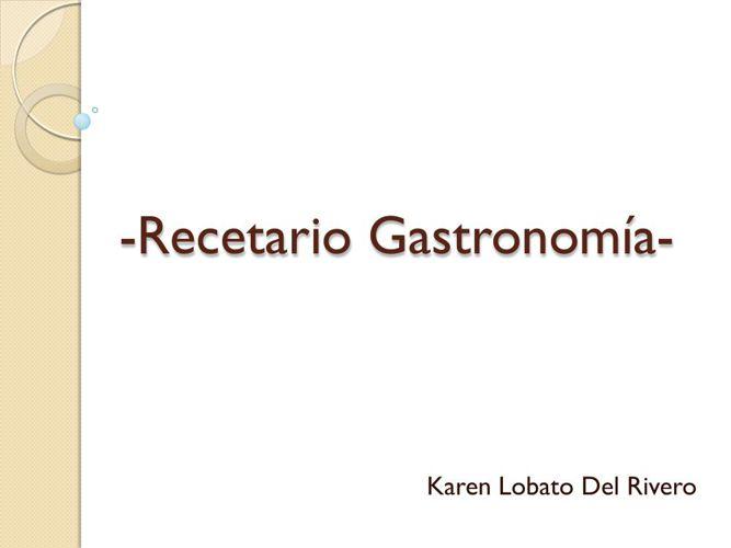 Recetario Gastronomía-karen