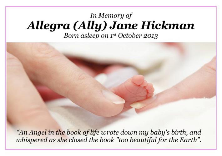Baby Allegra (Ally) Hickman