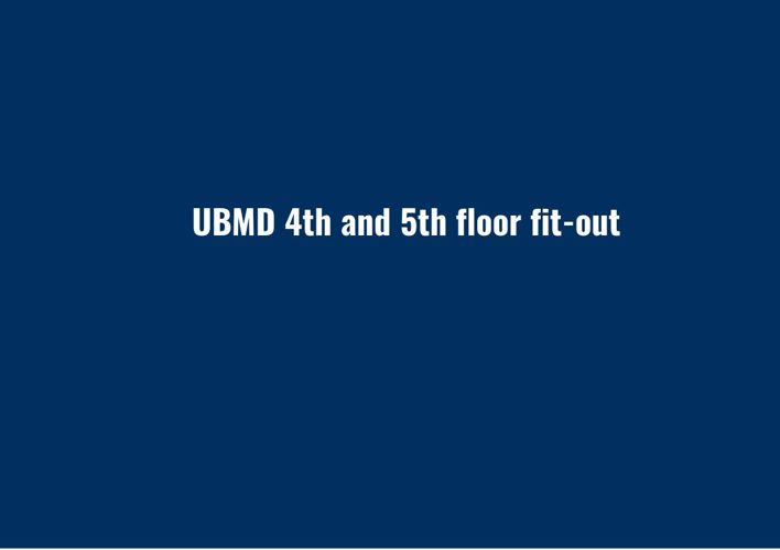 UBMD 4th and 5th floor fit-out