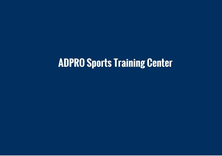 AdPro Sports Training Facility