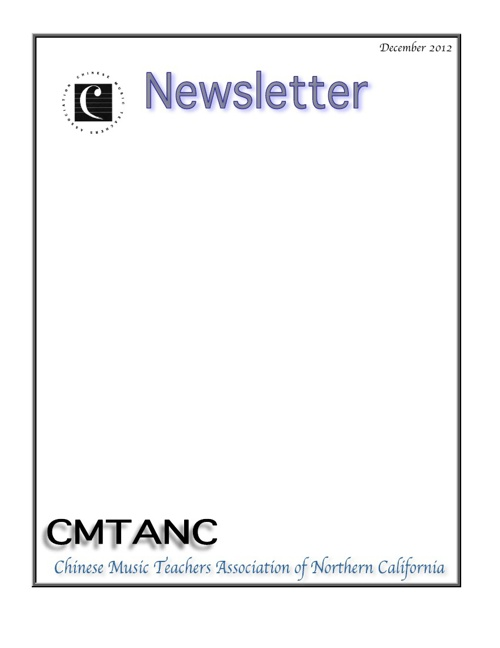 CMTANC Newsletter 122012