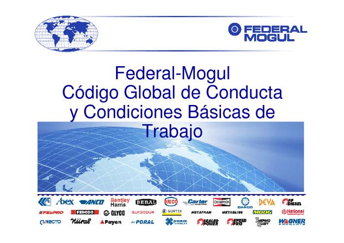 CODIGO DE CONDUCTA FEDERAL MOGUL 2012
