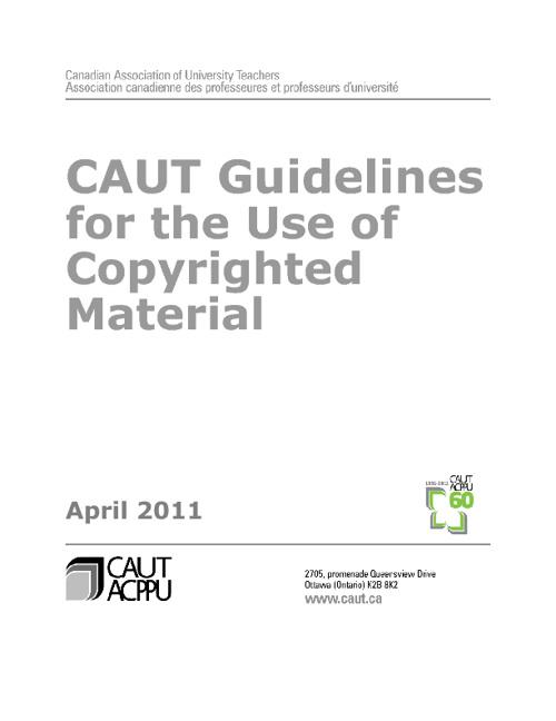 CAUT Copyright Guidelines