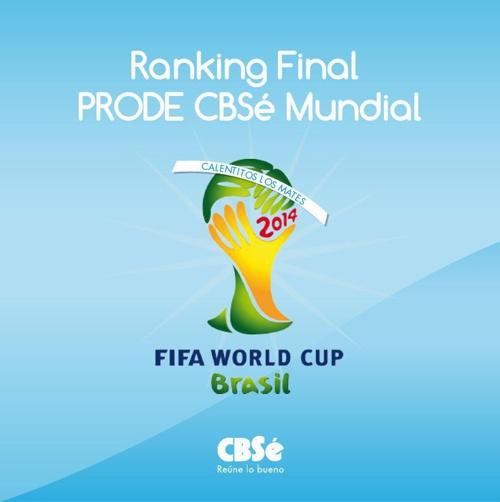 Novedades del Mundo CBSé- Final Prode