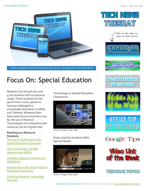 Tech News Tuesday, Issue 1, April 23, 2013