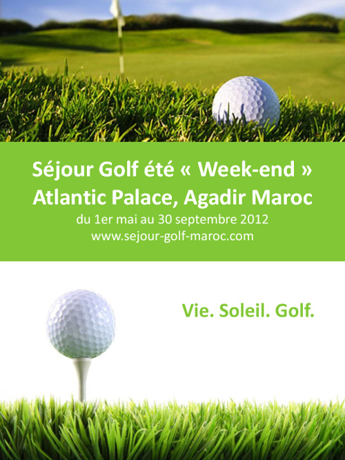 Sejour Golf été weekend au Maroc