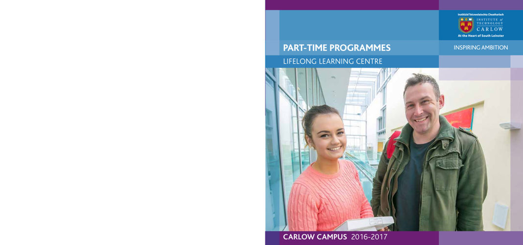 ITCarlow - Carlow Part-Time Prospectus 2016-2017