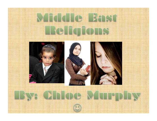Middle East Compare/Contrast- Chloe Murphy8