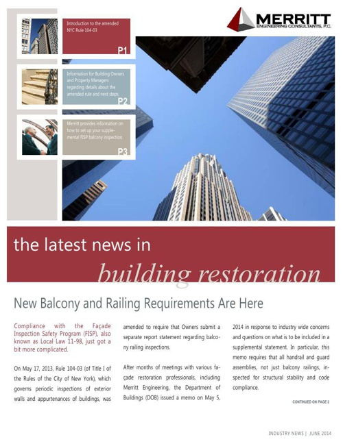 Balconies & Railings Update