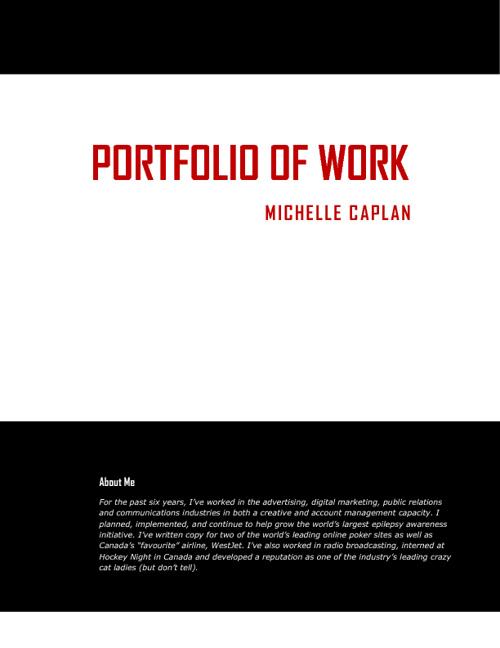 Michelle Caplan Portfolio