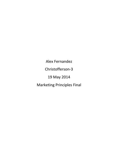 Alex Fernandez Career Portfolio