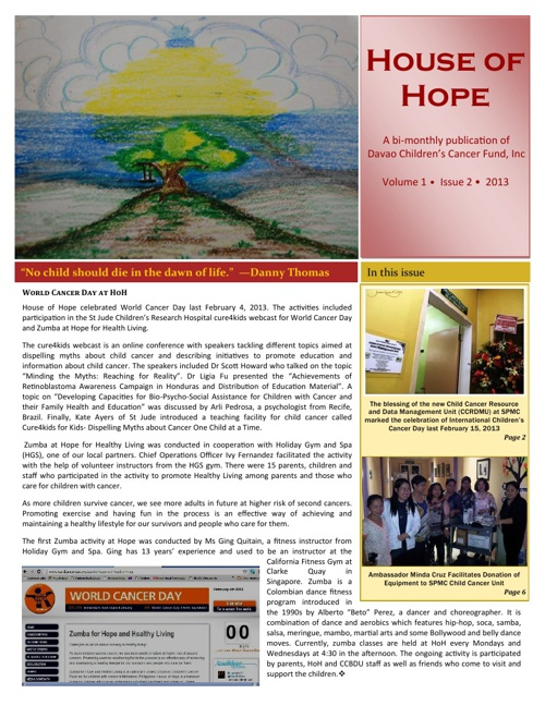 House of Hope Bulletin - Issue 2