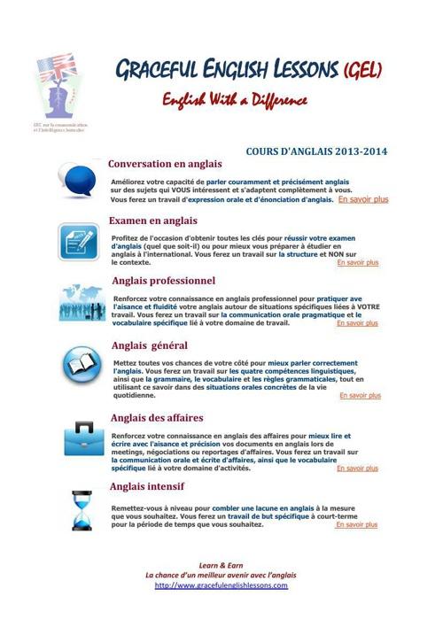 Dossiers d'inscription GEL 2013-14