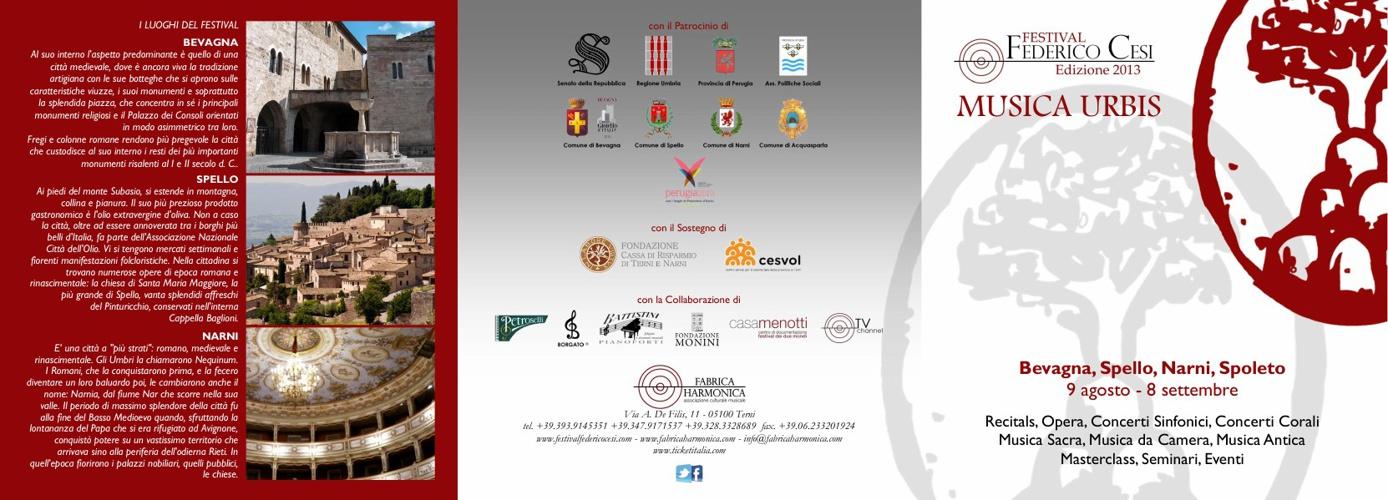 PROGRAMMA FESTIVAL FEDERICO CESI 2013 sfogliabile e scaricabile