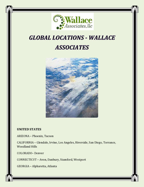 GLOBAL LOCATIONS - WALLACE ASSOCIATES