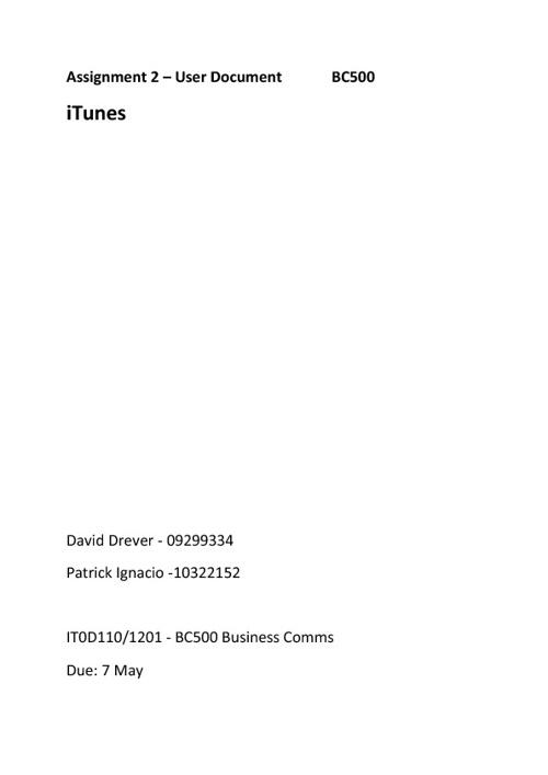BC500 - User Document