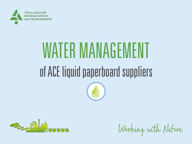 Water Management of ACE liquid paperboard suppliers