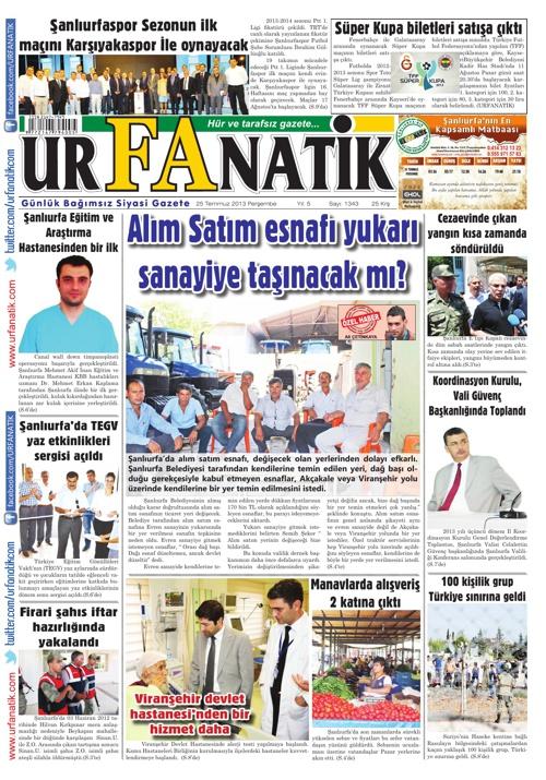 25 07 2013 / Urfanatik Gazetesi