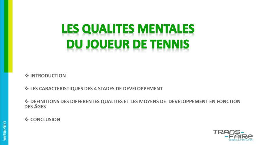 DE 2016-2017 -  LES QUALITES MENTALES DU JOUEUR DE TENNIS 2
