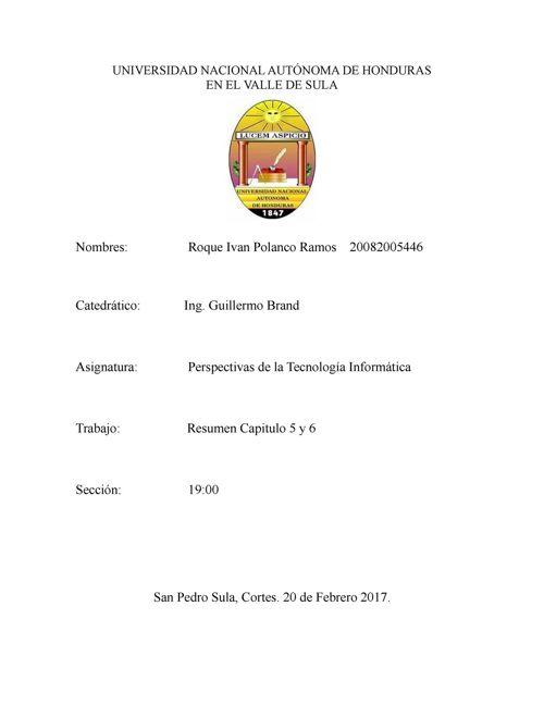 Resumen Capítulo 5 y 6