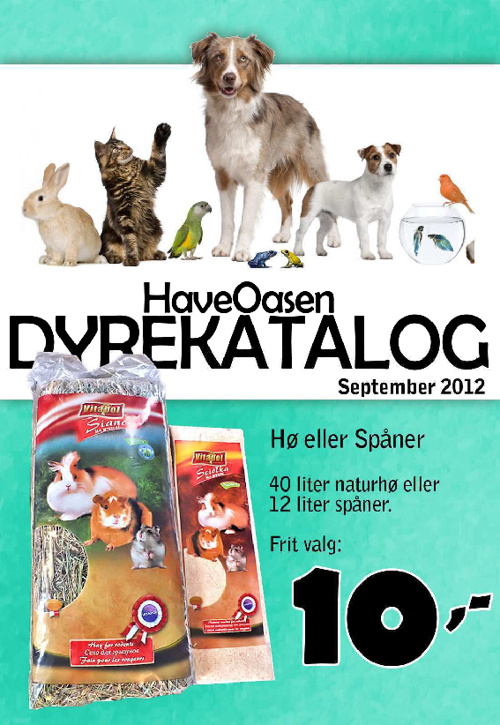 HaveOasen - Dyrekatalog September 2012