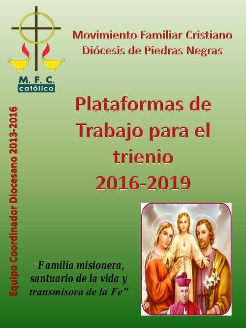 PLATAFORMA DE TRABAJO 2016-2019
