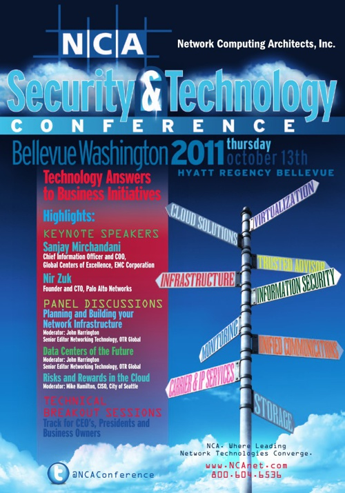 NCA Security & Technology Conference 2011 - Bellevue, WA