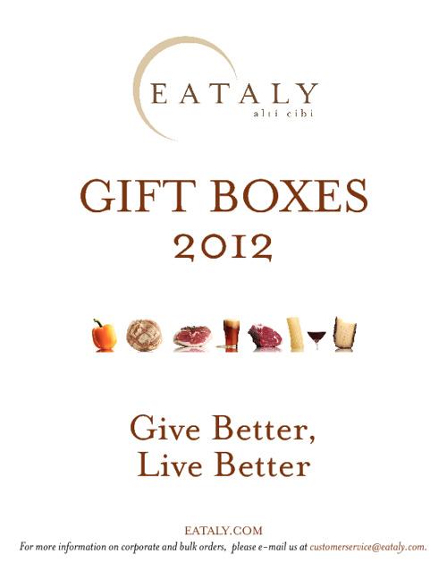 Eataly Gift Boxes 2012