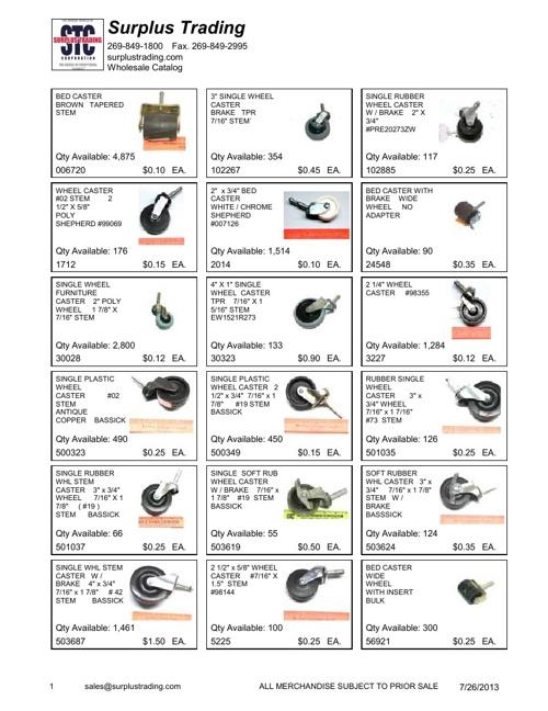 ASD Aug 2013 Wholesale Catalog