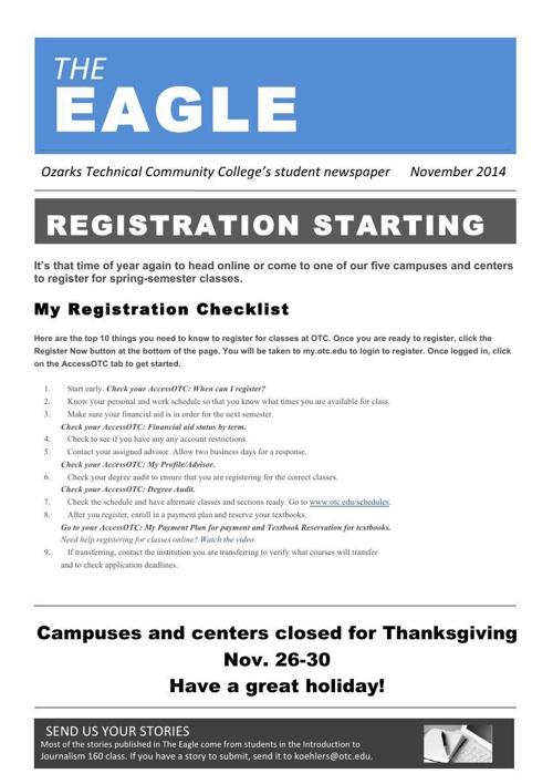 The Eagle November 2014