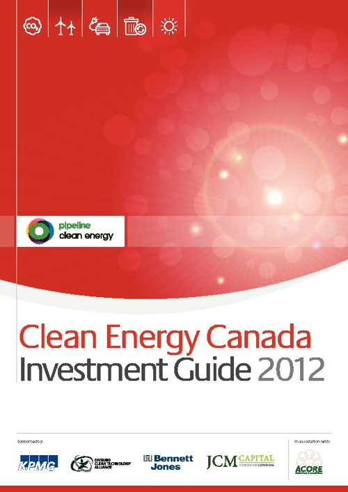 Clean Energy Canada Investment Guide 2012