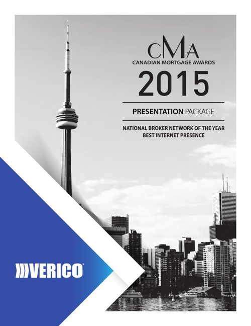 VERICO 2015 CMA Award Submission Package