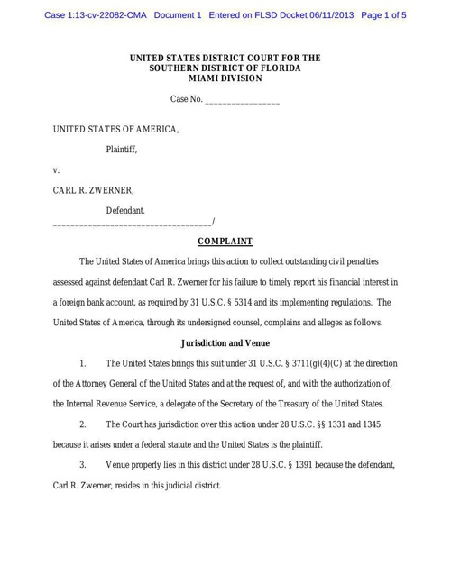 Zwerner Complaint-Jury Verdict
