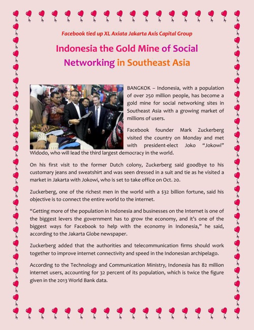 Indonesia the Gold Mine of Social Networking in Southeast Asia