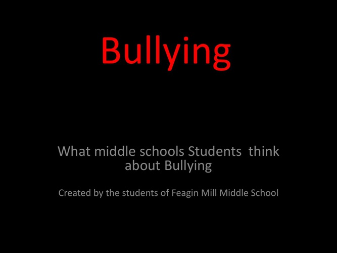 What students think of bullying.