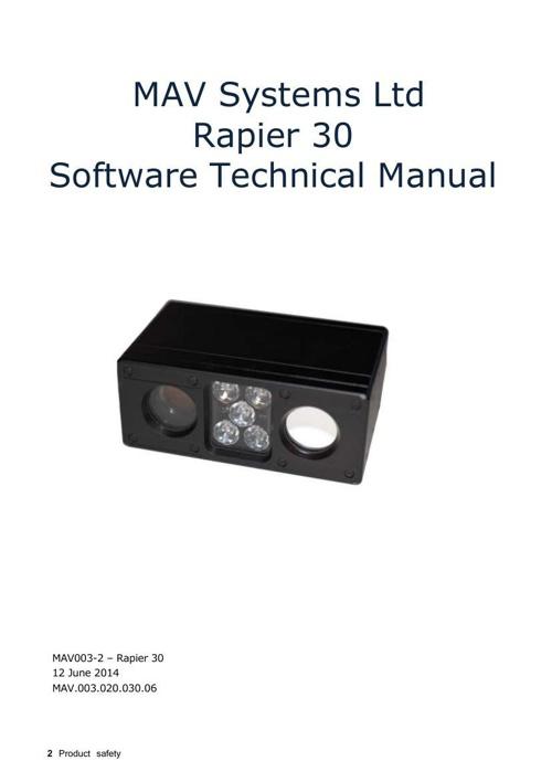 Rapier30 Software Technical Manual V2.2