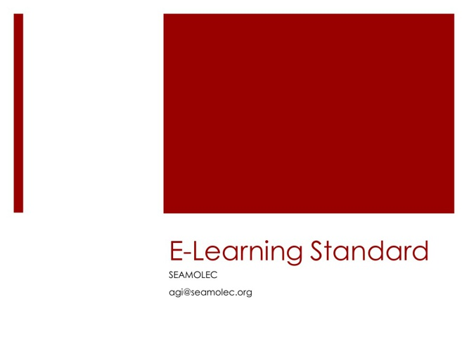 E -Learning Course