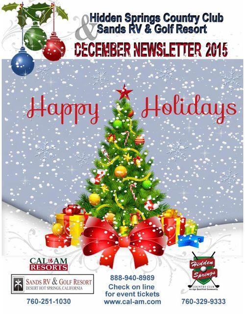Newsletter 2015 Dec Sands & HiddenS AJ