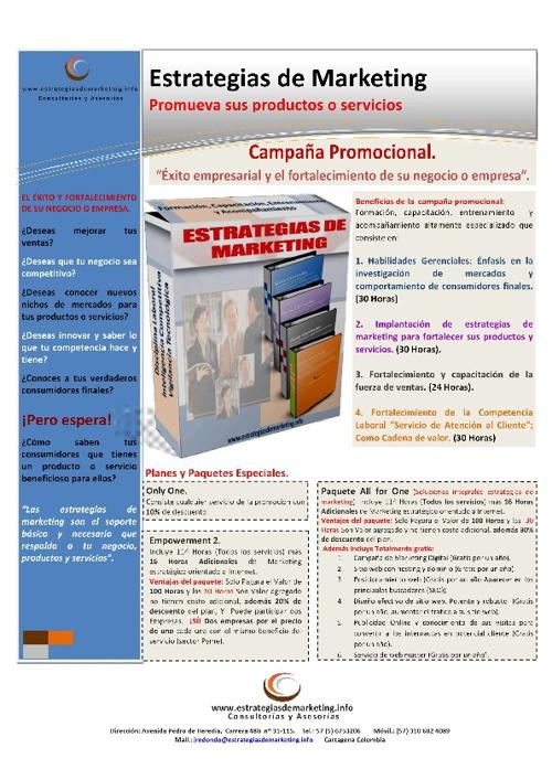 Campaña promocional estrategias de marketing