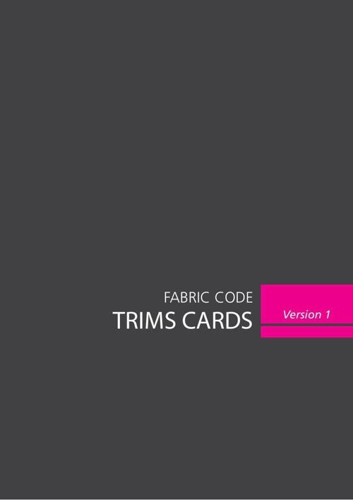 Trims Cards - Fabric Code