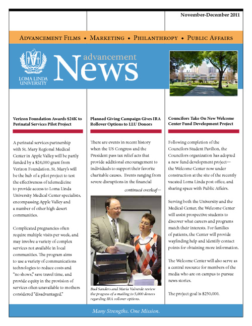 Advancement Newsletter