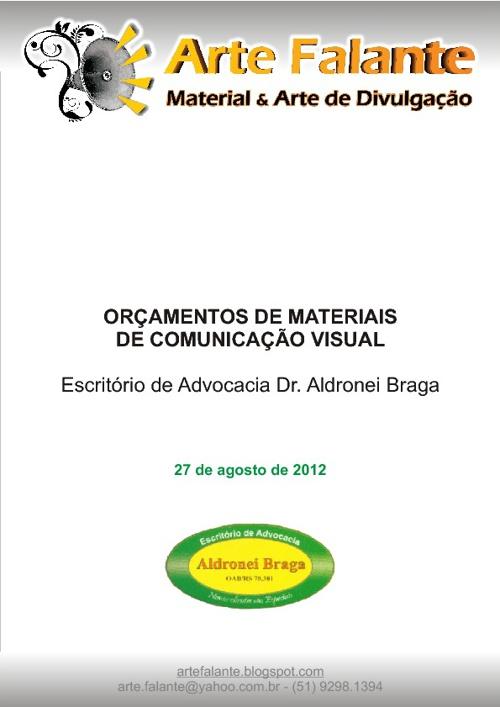Orçamento Aldronei Braga
