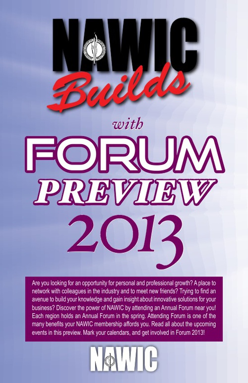 2013 NAWIC Forum Preview
