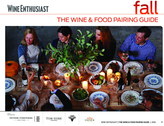 2016 Fall Wine & Food Pairing Guide